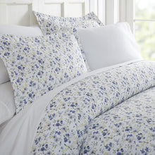 Blossoms Patterned 3-Piece Duvet Cover Set - Comforters - Linens and Hutch
