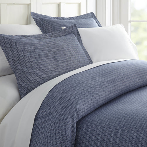 Comforters, Blue Diamond Patterned 3-Piece Duvet Cover Set, Linens And Hutch
