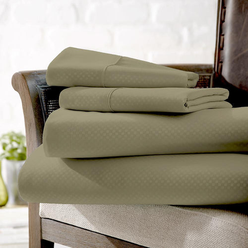 4-Piece Checkered Sheet Set - Sheets - Linens and Hutch
