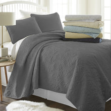 3-Piece Damask Quilted Coverlet Set - Comforters - Linens and Hutch