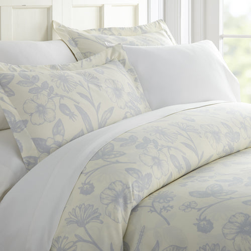 Comforters, Garden Patterned 3-Piece Duvet Cover Set, Linens And Hutch
