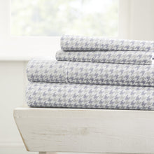 Houndstooth Patterned 4-Piece Sheet Set - Sheets - Linens and Hutch