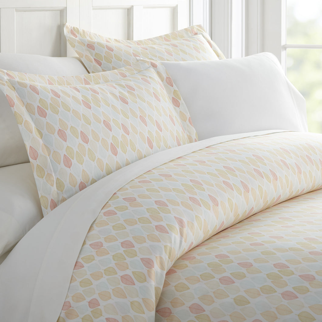 Comforters, Leaf Patterned 3-Piece Duvet Cover Set, Linens And Hutch