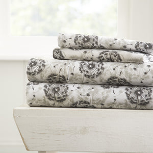Make A Wish Patterned 4-Piece Sheet Set - Sheets - Linens and Hutch