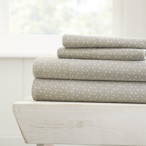 Mercedes Patterned 4-Piece Sheet Set - Sheets - Linens and Hutch