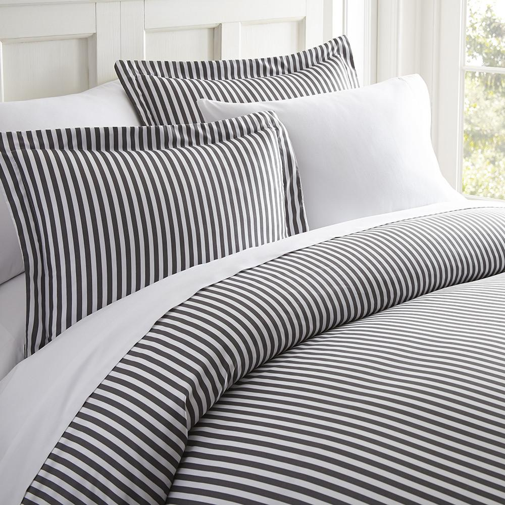 Ribbon Patterned 3-Piece Duvet Cover Set - Comforters - Linens and Hutch