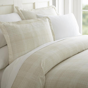 Thatch Patterned 3-Piece Duvet Cover Set - Comforters - Linens and Hutch