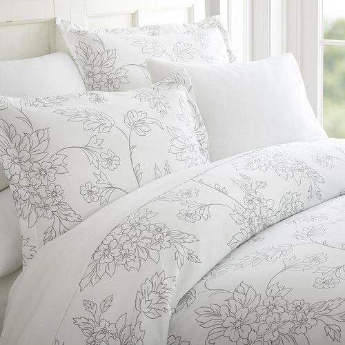 Vines Patterned 3-Piece Duvet Cover Set - Comforters - Linens and Hutch