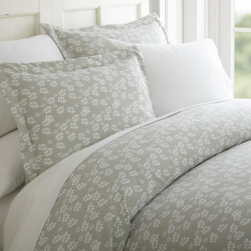 Wheatfield Patterned 3-Piece Duvet Cover Set - Comforters - Linens and Hutch