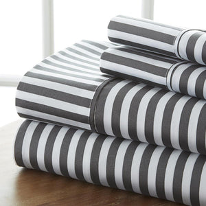 Ribbon Patterned 4-Piece Sheet Set - Sheets - Linens and Hutch