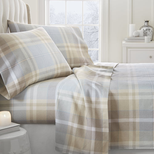 4-Piece Flannel Plaid Sheet Set - Sheets - Linens and Hutch