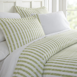 Rugged Stripes Patterned 3-Piece Duvet Cover Set - Comforters - Linens and Hutch