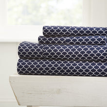 Scallops Patterned 4-Piece Sheet Set - Sheets - Linens and Hutch