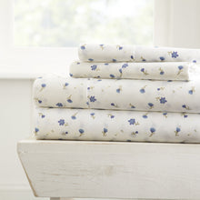 Soft Floral Patterned 4-Piece Sheet Set - Sheets - Linens and Hutch