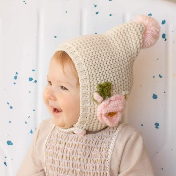 Natural Poppy Bonnet