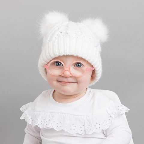 Winter White Fluffer Beanie Hat