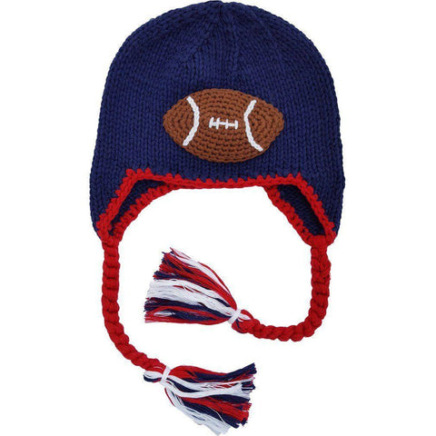 All American Football Earflap Beanie Hat-Huggalugs