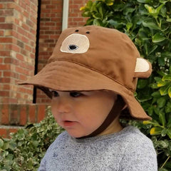 Bear UPF 50+ Bucket Hat-Huggalugs