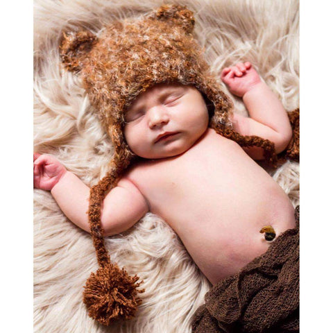 Brown Bear Beanie Hat-Huggalugs