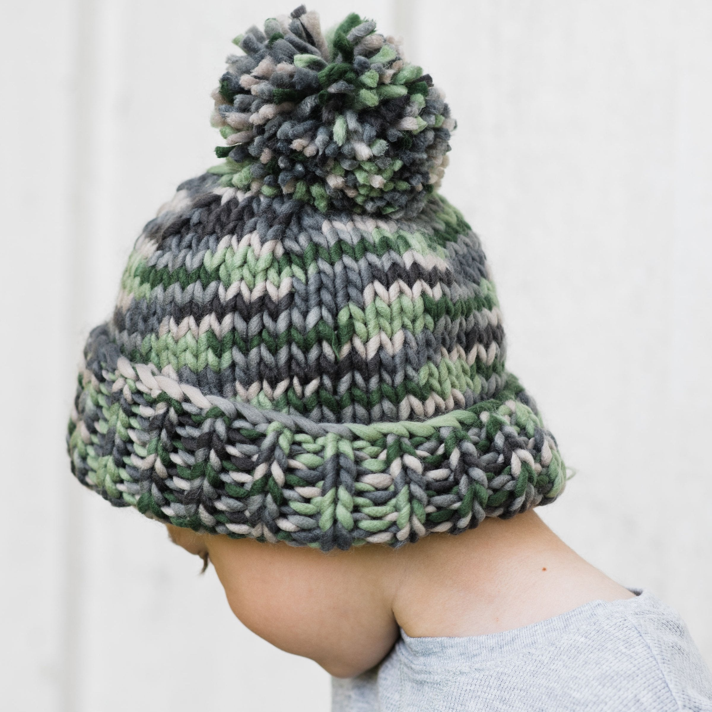 Camo Army Green Beanie Hat