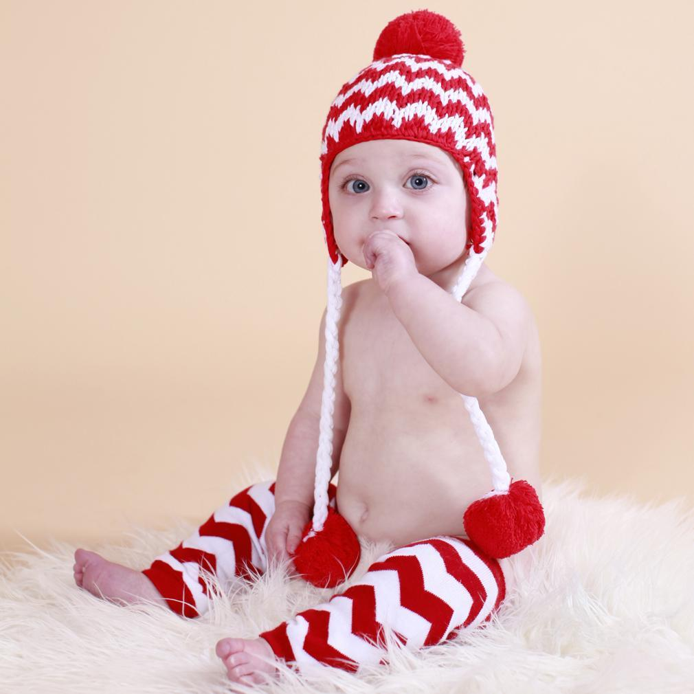 Cheer Chevron Beanie Hat-Huggalugs