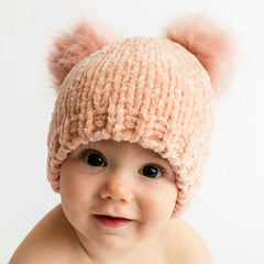 Champagne Chenille Beanie Hat-Huggalugs
