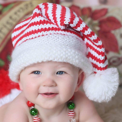 Elf Striped Stocking Hat-Huggalugs