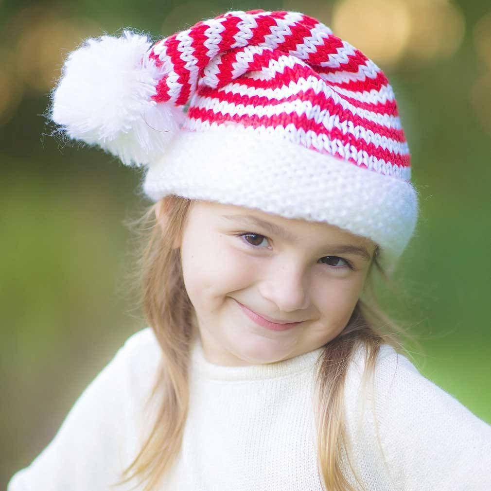 Elf Striped Stocking Hat - Beanie Hats