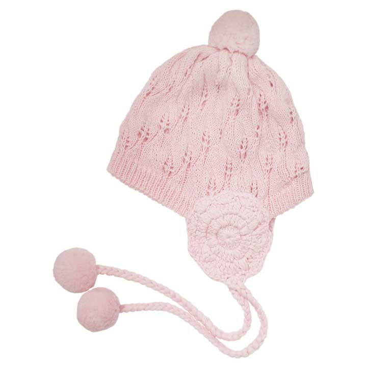 Filigree Blush Pink Lace Beanie Hat - Huggalugs-Beanie Hats