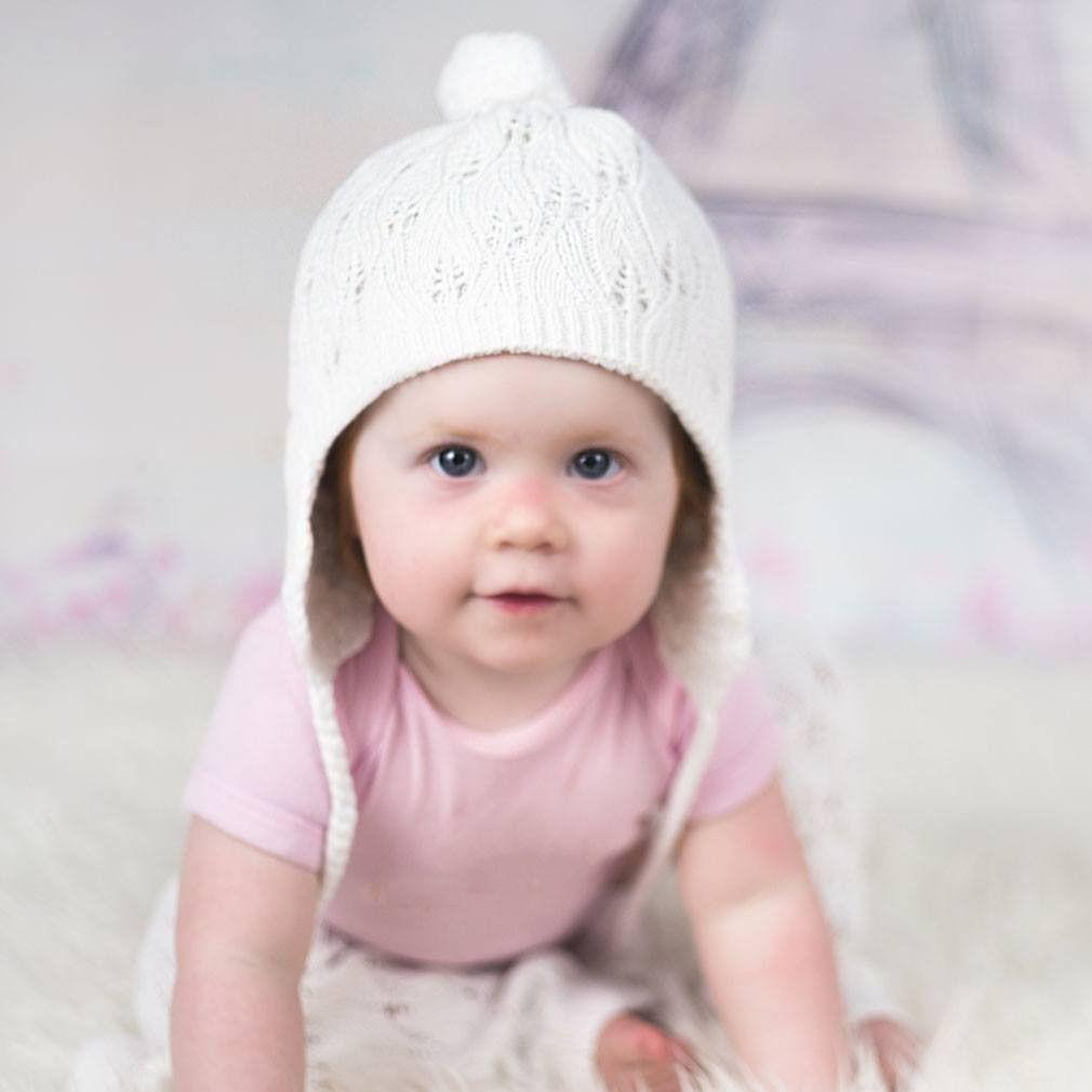 Filigree White Lace Beanie Hat - Beanie Hats