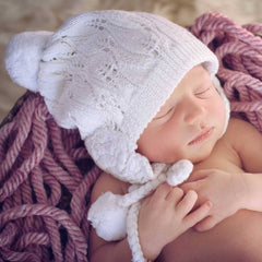 Filigree White Lace Beanie Hat - S (0-6 Months) - Beanie Hats