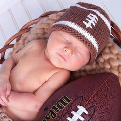 Newborn Football Beanie Hat and Booties-Huggalugs