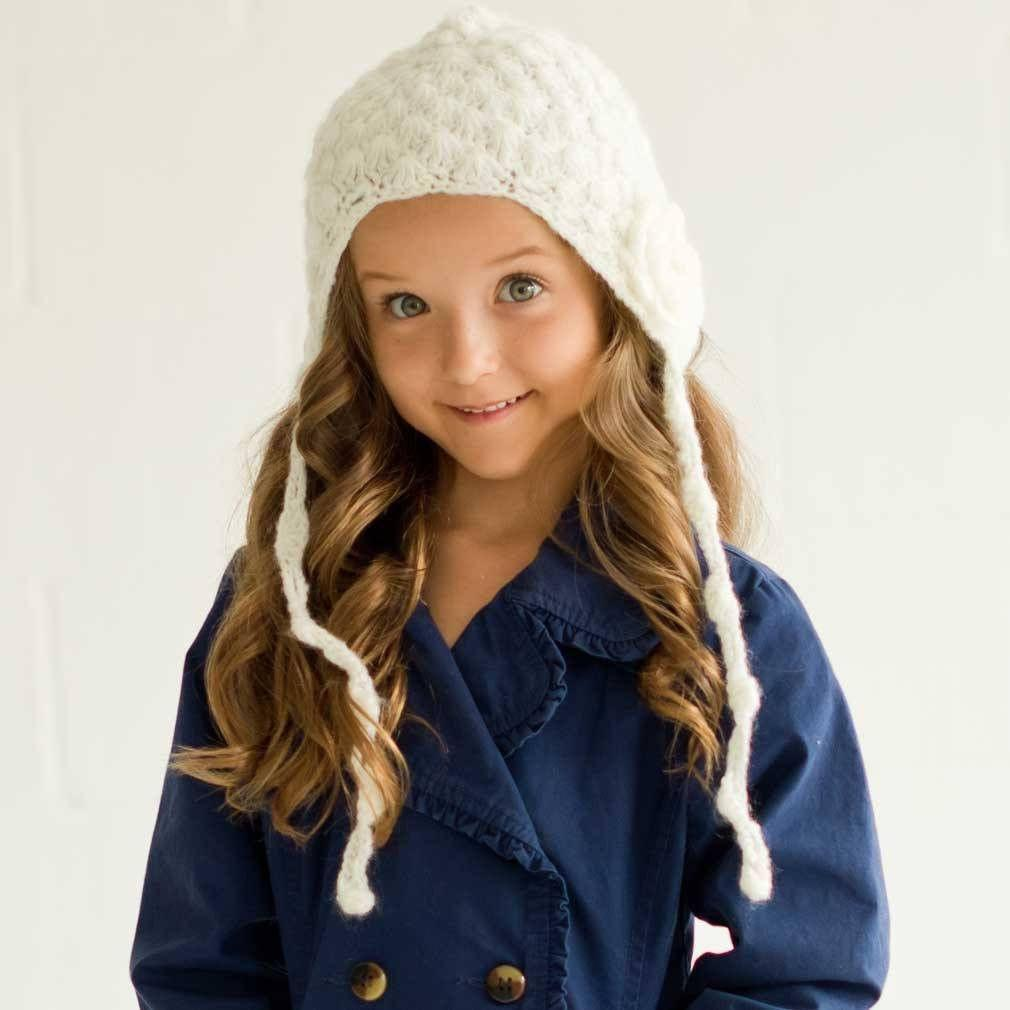 Gossamer Lace Cream Bonnet - L (2-6 Years) - Beanie Hats