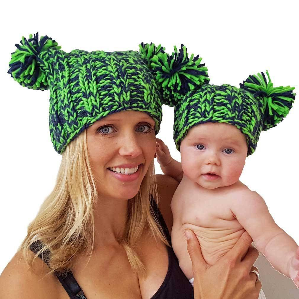 Hawks Beanie Hat for Moms and Babies  5d6d2124a16