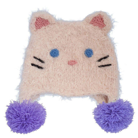 Kitty Cat Earflap Beanie Hat-Huggalugs