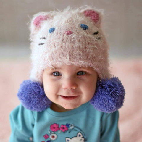 Kitty Cat Earflap Beanie Hat - Beanie Hats