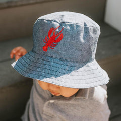 Lobster UPF 25+ Chambray Bucket Hat