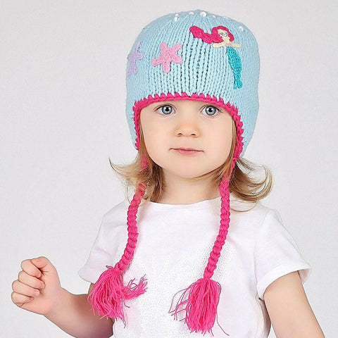 Mermaid Earflap Beanie Hat - Beanie Hats