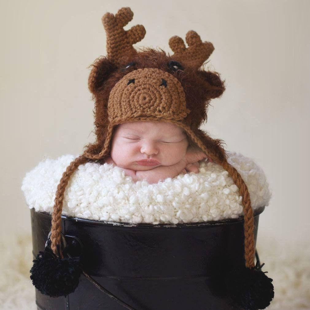 Moose Beanie Hat - Beanie Hats