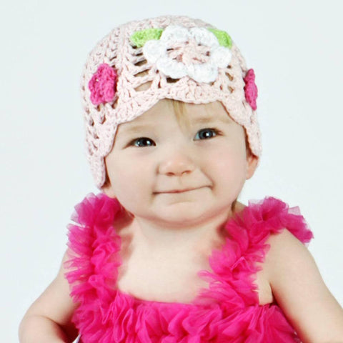 Muse Crocheted Girls Cloche - Medium (6-24 Months) - Beanie Hats