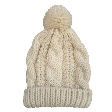 Natural Cable Beanie - Beanie Hats