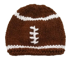 Newborn Football Beanie Hat - Huggalugs-Newborn Knits