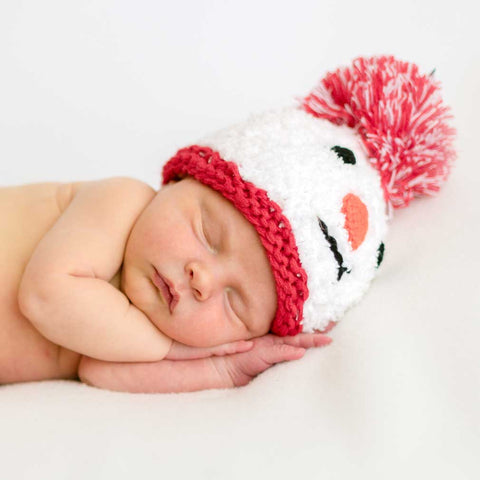 Newborn Snowman Beanie Hat or Set with Booties - Huggalugs-Newborn Knits