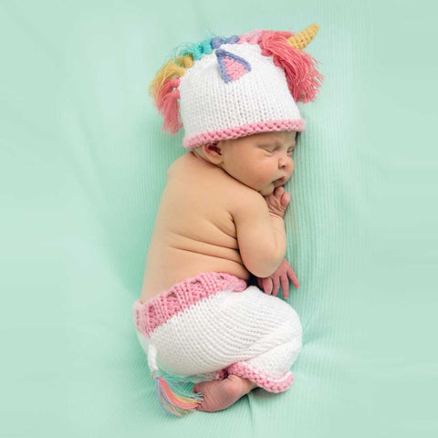 Newborn Unicorn Hat or Pats - Huggalugs-Newborn Knits