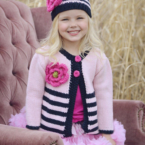Pink And Navy Ziggy Sweater - Sweaters
