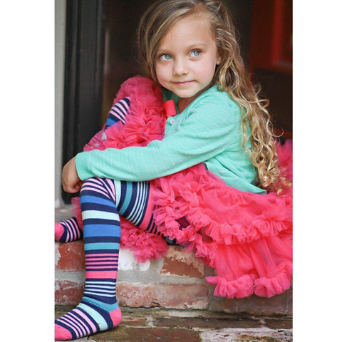 Pippi Striped Girls Tights - Huggalugs-Tights