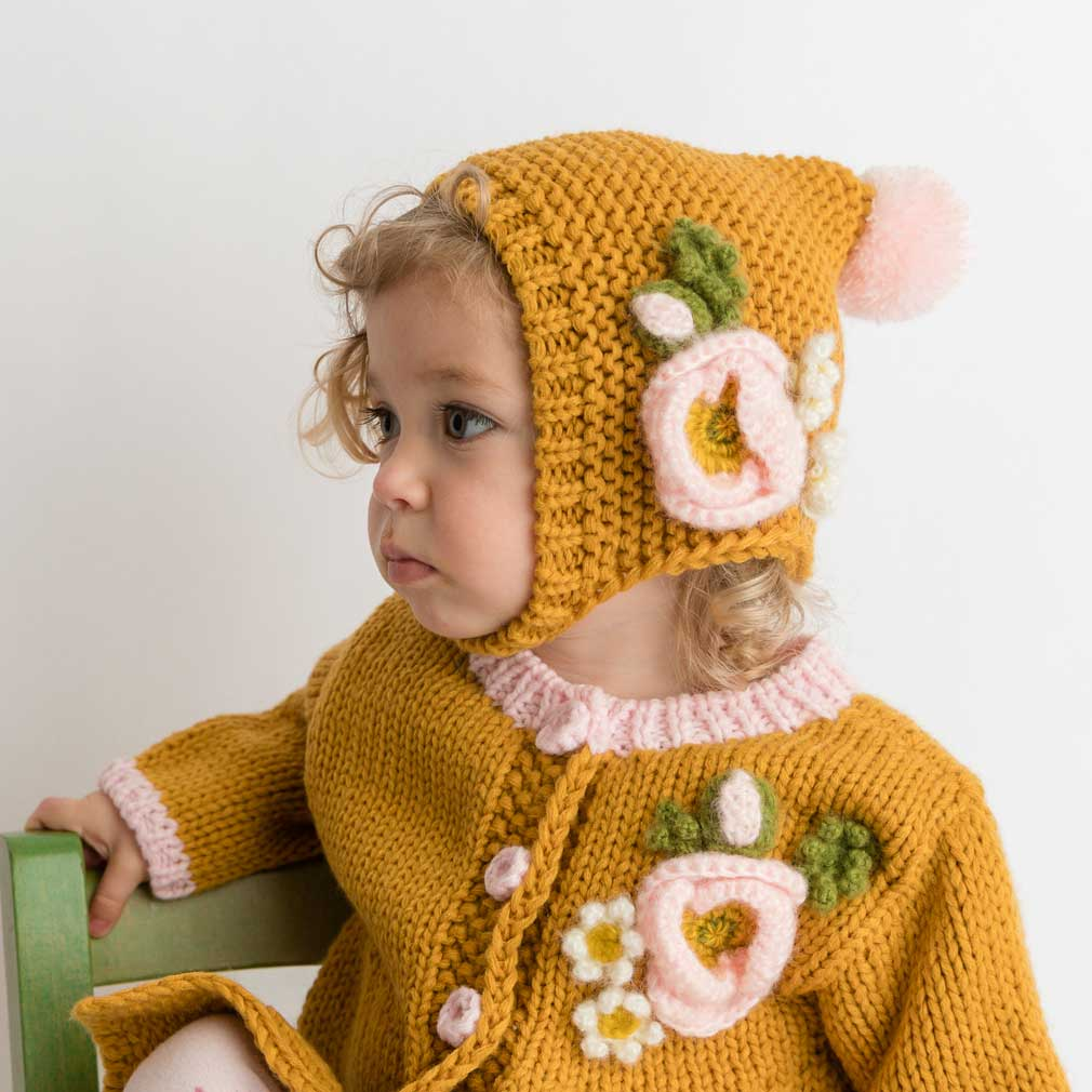 Gold Poppy Bonnet-Huggalugs