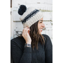 Rebel Natural Knit Beanie Hat - Huggalugs-Beanie Hats