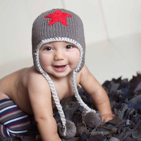 Red Star Beanie Hat - Beanie Hats