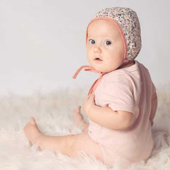 Reversible Ginger Blooms Danish Bonnet - Huggalugs-bonnets